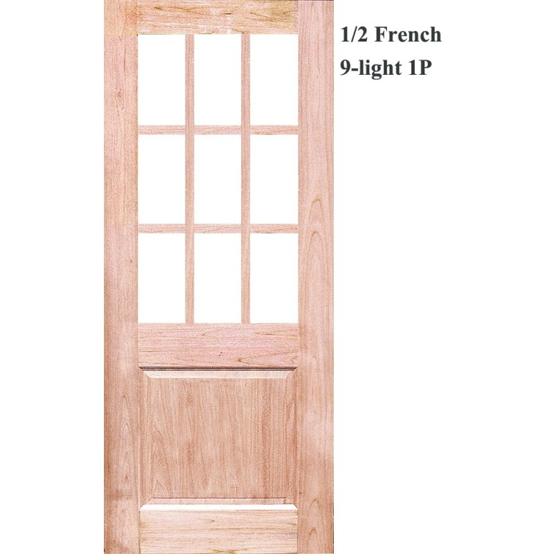 Half_french_9l_1p_solid_timber_door. Half_french_9l_1p_solid_timber_door